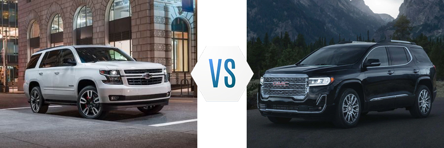 2020 Chevrolet Tahoe vs GMC Acadia