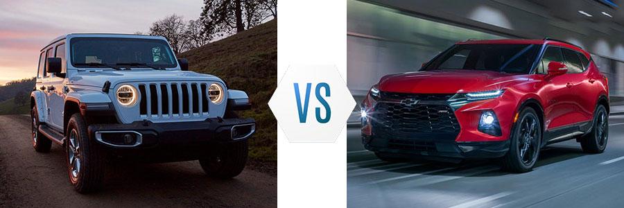 2020 Jeep Wrangler vs Chevrolet Blazer